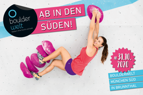 Am 31.10.20 eröffnet die Boulderwelt München Süd im Gewerbegebiet Brunnthal-Nord.
