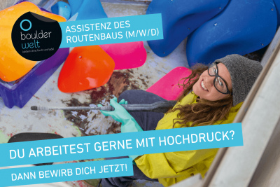 Die Boulderwelt München Süd sucht eine Assistenz des Routenbaus
