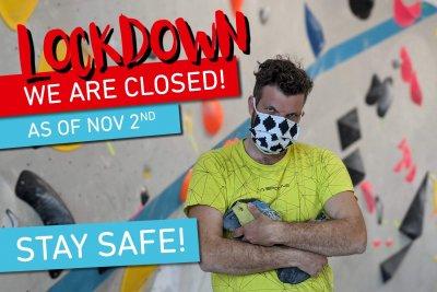 Lockdown der Boulderwelt München Süd bis voraussichtlich 20.12.20