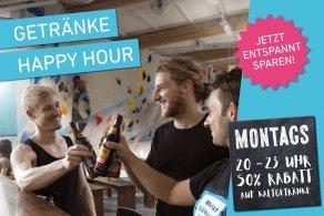 Getränke Happy Hour jeden Montag 20-23 Uhr in der Boulderwelt München Süd