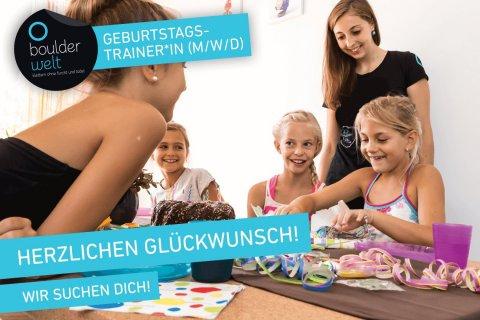 Für unsere Kindergeburtstage suchen wir in der Boulderwelt München Ost Trainer und Trainerinnen!
