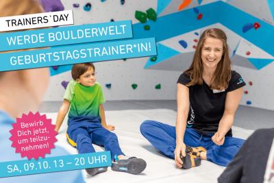 Werde Kindertrainer oder Kindertrainerin für Kindergeburtstage in der Boulderwelt München Süd!
