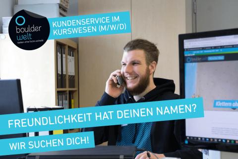 Die Boulderwelt München Süd sucht Verstärkung im Kundenservice Kurswesen